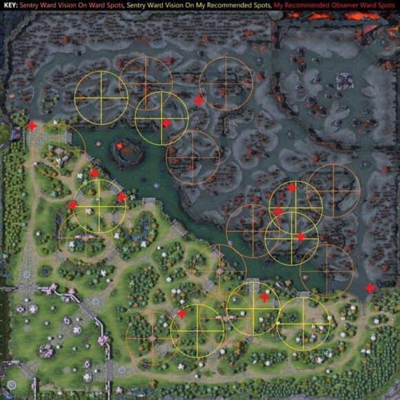 Карта, золото и опыт в Дота 2