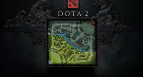 Смотрите всегда на карту Дота 2